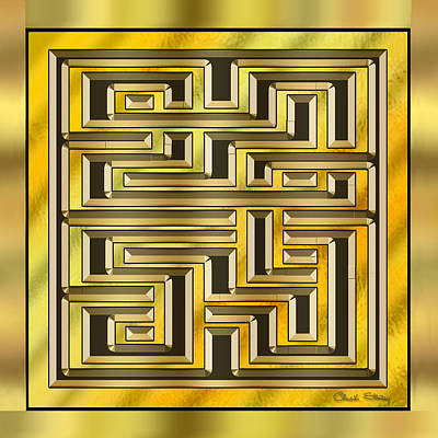 Hand Crafted Digital Art - Gold Design 17 - Chuck Staley by Chuck Staley