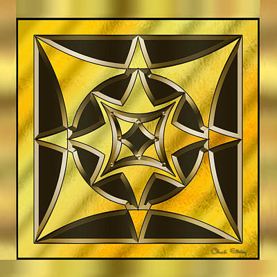 Hand Crafted Digital Art - Gold Design 18 - Chuck Staley by Chuck Staley