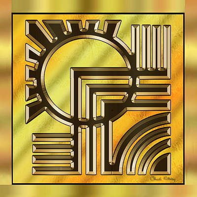 Digital Art - Gold Design 21 - Chuck Staley by Chuck Staley