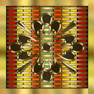 Digital Art - Gold Design 3 - Chuck Staley by Chuck Staley
