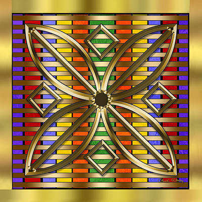 Digital Art - Gold Design 4 - Chuck Staley by Chuck Staley