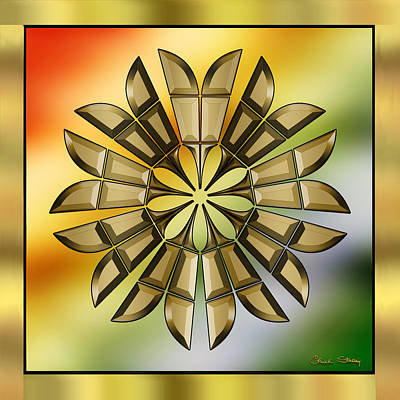 Digital Art - Gold Design 8 by Chuck Staley