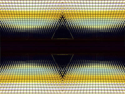 Photograph - Gold Double Delta Abstract by Mary Bedy