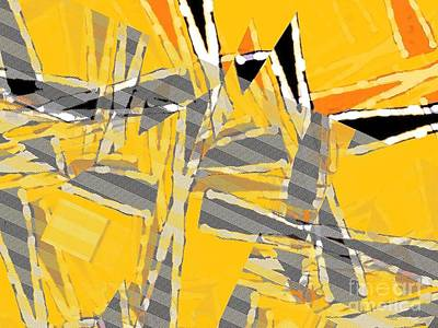 Digital Art - Gold Field by Cooky Goldblatt