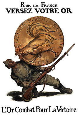 Coin Wall Art - Painting - Gold Fights For Victory by War Is Hell Store