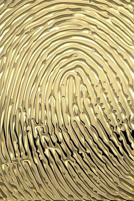 Gold Fingerprint Set Of Four - 3 Of 4 Original