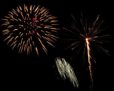 Photograph - Gold Fireworks by Kyle J West