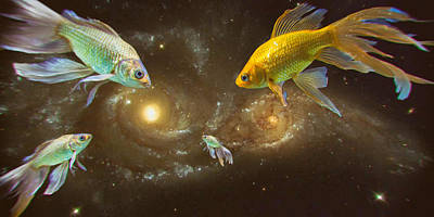 Photograph - Gold Fish In Space by John Williams