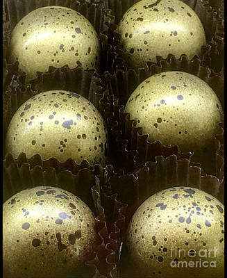 Photograph - Gold Flecked Chocolats  by Susan Garren