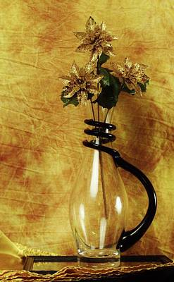Photograph - Gold Flowers In Vase by Buddy Scott