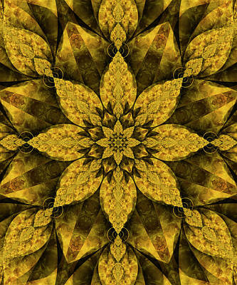 Digital Art - Gold Fractal by Ted Raynor