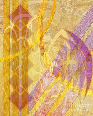 Gold Fusion Art Print by John Beck