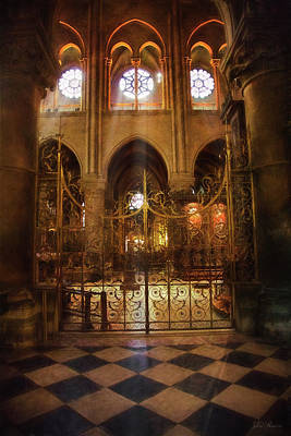 Photograph - Gold Gate At Notre Dame by John Rivera