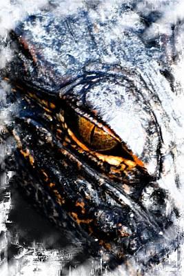 Photograph - Gold Gator Eye by Sheri McLeroy