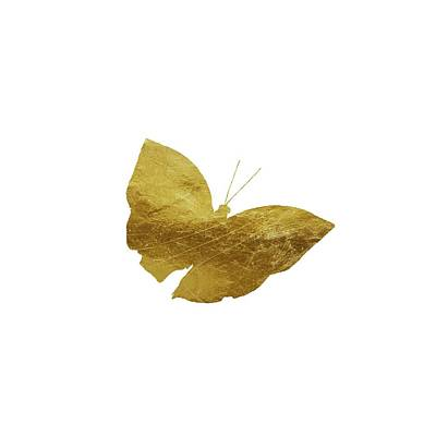 Photograph - Gold Glam Butterfly by P S