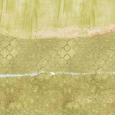 Digital Art - Gold Glam Pretty Abstract by P S