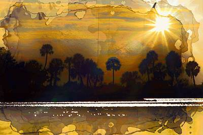 Photograph - Gold Gulf Coast Sunset by Sheri McLeroy