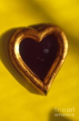 Photograph - Gold Heart Mirror Series by Tamarra Tamarra