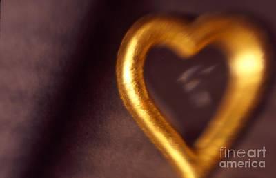 Photograph - Gold Heart Mirror by Tamarra Tamarra
