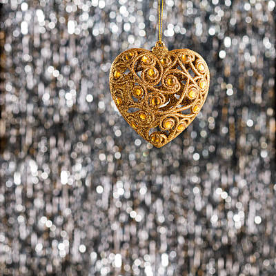 Photograph - Gold Heart  by U Schade