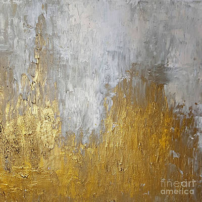 Painting - Gold In The Mountain by KR Moehr