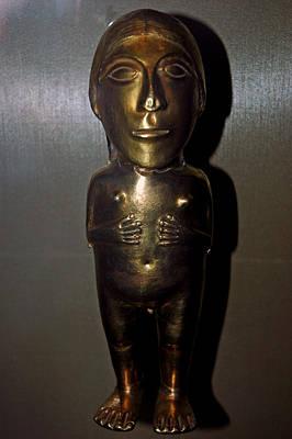 Photograph - Gold Indian Statue by LeeAnn McLaneGoetz McLaneGoetzStudioLLCcom