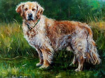 Gold Labrador Painting - Gold by Jacinta Crowley-Long