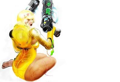 Digital Art - Gold Lady by Grant Wilson