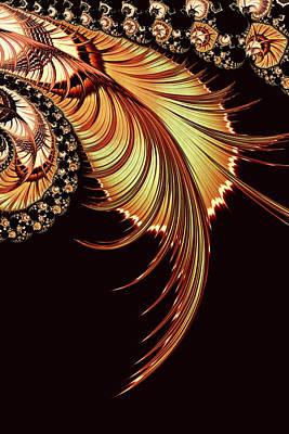 Digital Art - Gold Leaf Abstract by Georgiana Romanovna
