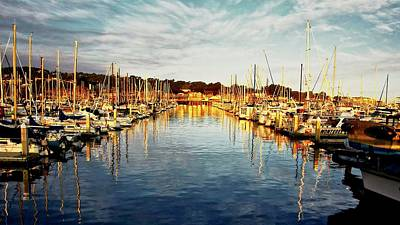 Photograph - Gold Light, Monterey Marina by Flying Z Photography by Zayne Diamond