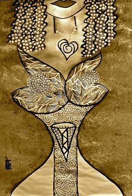 Archetype Painting - Gold Love Muse by Tetka Rhu