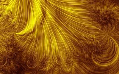 Fractal Digital Art - Gold by Maye Loeser