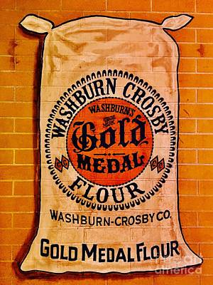 Photograph - Gold Medal Flour Sign by The Art of Alice Terrill