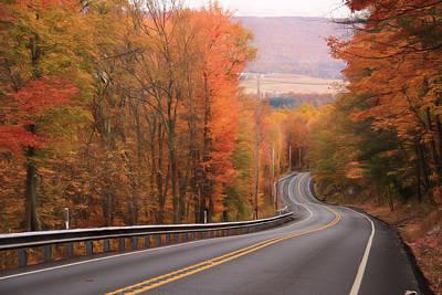 Gold Mine Photograph - Gold Mine Road In Autumn by Lori Deiter