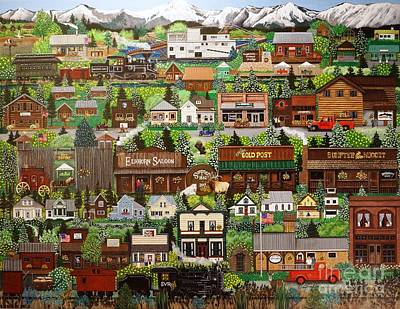 Painting - Gold Mine Town by Jennifer Lake