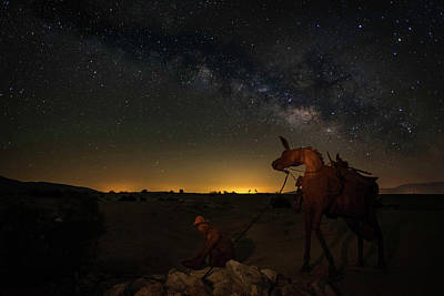 Photograph - Gold Miner Milky Way 2  by Scott Cunningham