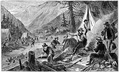 Gold Mining, 1853 Art Print