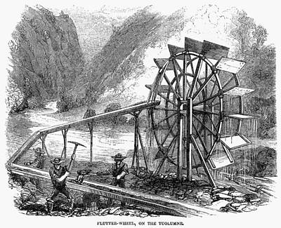Gold Mining, 1860 Art Print by Granger