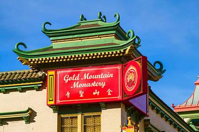 Photograph - Gold Mountain Monastery by Bonnie Follett