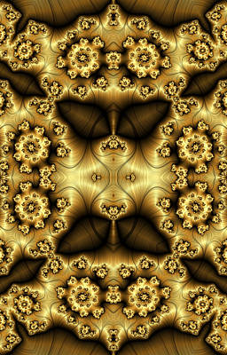 Digital Art - Gold N Brown Phone Case by Lea Wiggins