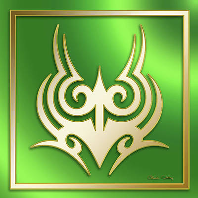Digital Art - Gold On Green 2 - Chuck Staley by Chuck Staley