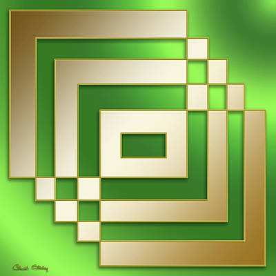Digital Art - Gold On Green - Chuck Staley by Chuck Staley