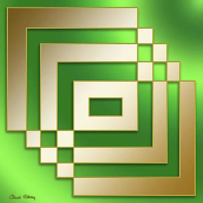 Gold On Green - Chuck Staley Art Print