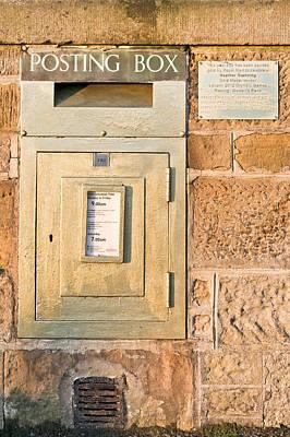 Mail Box Photograph - Gold Post Box by Tom Gowanlock