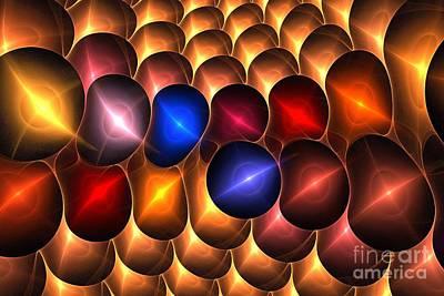 Digital Art - Gold Red Bells by Kim Sy Ok