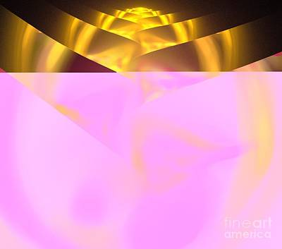 Digital Art - Gold Rose Bud by Kim Sy Ok