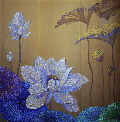 Tantra Painting - Gold Soul  Screen by Polina Ogiy