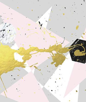 Digital Art - Gold Splatter by Uma Gokhale