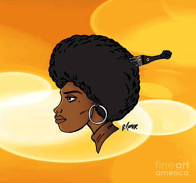Afro American Art Drawing - Gold Standard by Billy Comer