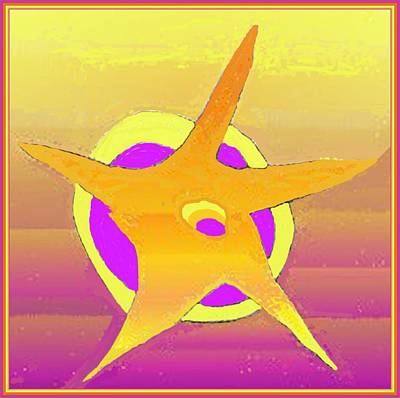 Drawing - Gold Star by Julia Woodman